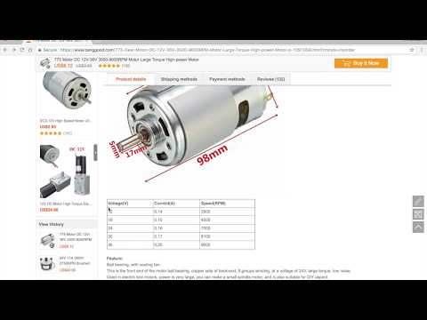 MUST SEE: 775 DC motor specification