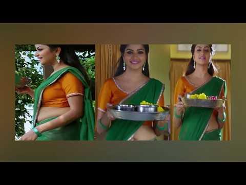 Serial Actress Nandhini Hot Navel Show | TM