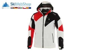 Spyder, Leader, ski-jas, heren, wit/zwart/rood
