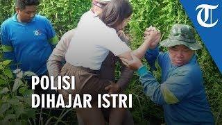 Viral Foto Polisi Selamatkan Wanita Korban Laka, Balik Rumah Gantian Dihajar Istri yang Cemburu
