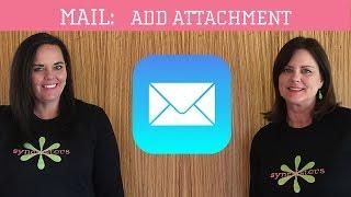 iPhone / iPad Mail - Add Attachment