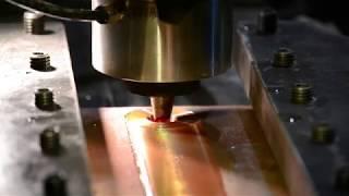MegaStir FSW MP159 tool on 25mm Copper