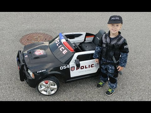 Kid Trax 12v Dodge Charger Police Car Test Drive