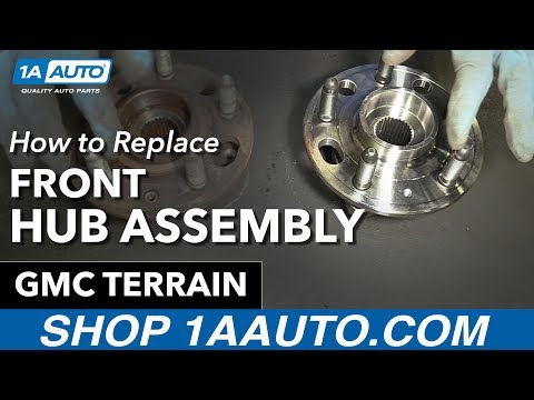 How To Replace Install Front Hub Assembly 2014 GMC Terrain Mp3