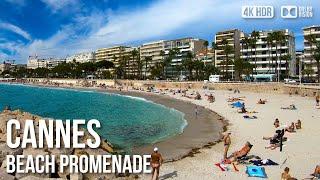 Cannes Beach Promenade La Croisette - 🇫🇷 France - 4K Virtual Tour