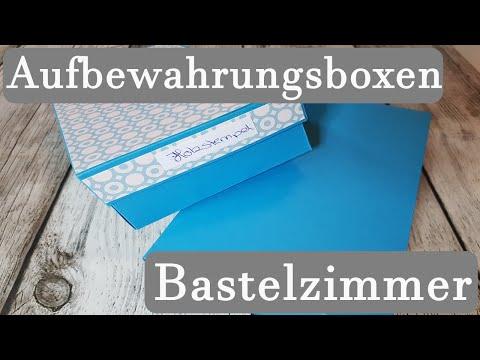 Aufbewahrungsboxen ✿ Ordnung ✿ Aufbewahrung basteln ✿ Basteln mit Papier