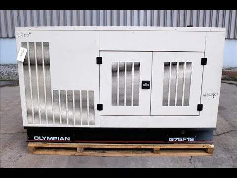 Olympian Model G75F1S 63 kW Standby Natural Gas Generator