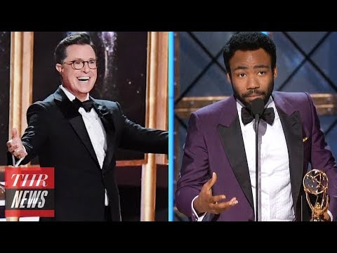 2017 Emmy Highlights: Colbert Musical, Donald Glover Historic Win, Hulu's First Win | THR News