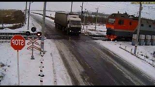 Авария на ж/д переезде Казахстан