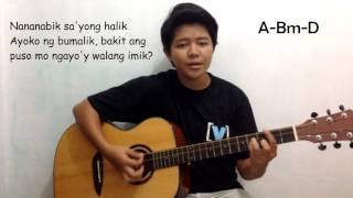 The Juans - Nasayang Lang (Guitar Chords + Lyrics)