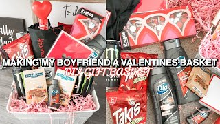 Making My BOYFRIEND A VALENTINES Basket // Valentines Gift Ideas For Him (diy Valentines Gift Ideas)