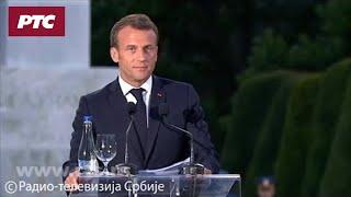 Makron se na Kalemegdanu obratio na srpskom jeziku: Francuska vas voli kao što ste vi voleli nju