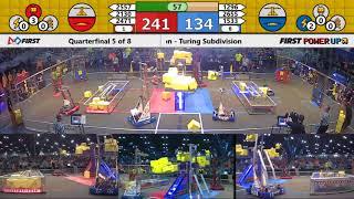 Quarterfinal 5 - 2018 FIRST Championship - Houston - Turing Subdivision