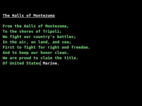•· Free Watch Halls of Montezuma
