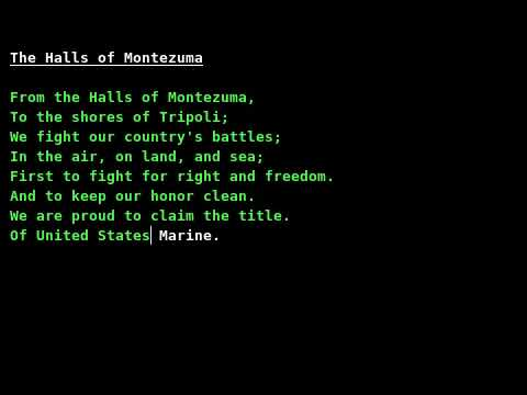 •· Streaming Online Halls of Montezuma