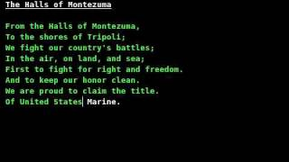Marines' Hymn (The Halls of Montezuma) /w lyrics