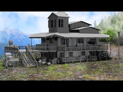 Modeling wooden house 3ds max tutorial part – 1