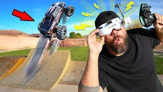 Will It Drive with Virtual Reality VR Goggles? Crazy RC CAR MOD!