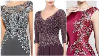 Celebraties Inspired Beads Sequins And Lace Work Evening Dresses Ideas For Women 2020