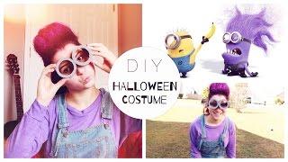 DIY: костюм на Хэллоуин-Злой Миньон + прическа | DIY PURPLE MINION HALLOWEEN COSTUME