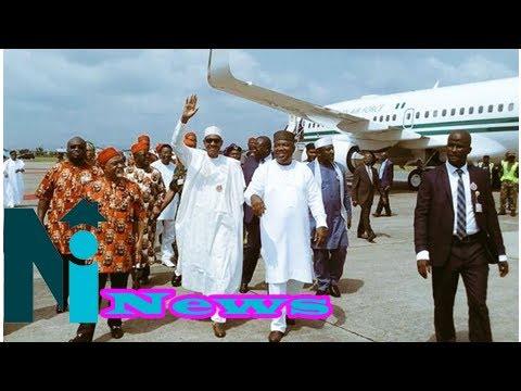 Buhari shuns ipob threat, arrives in ebonyi
