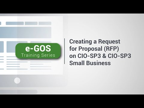 e-GOS Training Series Creating an Request for Proposal (RFP ...