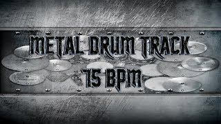 Black Sabbath/Doom Metal Drum Track 75 BPM | Remix (HQ,HD)