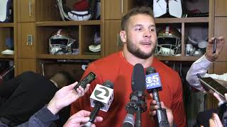 Bosa says 49ers defense knew they could rattle Mayfield: 'He had it coming'