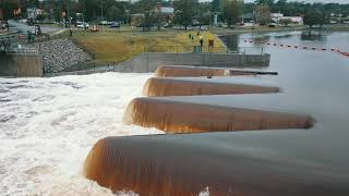 Hope Mills Dam after Hurricane Florence