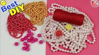 Door Hanging Toran Making Using Pearls || DIY Designer Toran Making At Home  ||