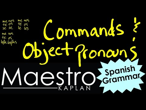 Download How to use OBJECT PRONOUNS with COMMANDS in Spanish Mp4 HD Video and MP3