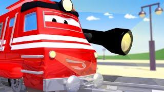 Поезд Трой -  Поезд ПЫЛЕСОС - Автомобильный Город 🚄 детский мультфильм