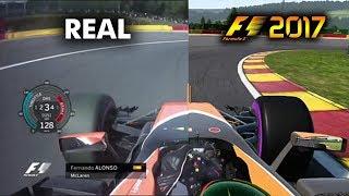 F1 2017 CODEMASTERS  VS F1 REAL