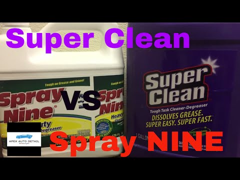 Super Clean VS Spray Nine!!! A Cleaner/Degreaser Heavy Weight, Battle Royale!!!