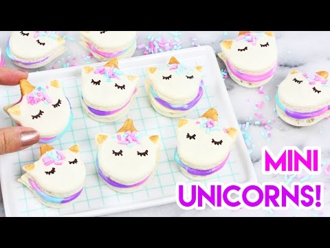 How to Make Mini Unicorn Macarons! 🦄