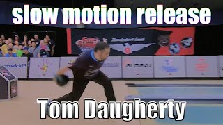 Tom Daugherty slow motion release - PBA Bowling