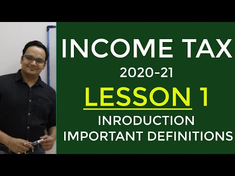 Lesson 1 Income Tax 2020-21