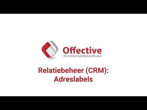 Offective | Relatiebeheer (CRM): Adreslabels