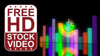 FREE HD themed video backgrounds – music: Audio equalizer bars music control levels moving pulsing