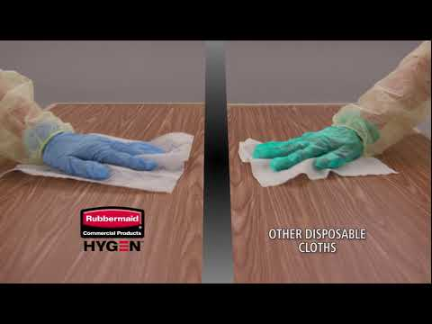 "Product video for HYGEN™ 18"" Disposable Microfiber Pad, White"