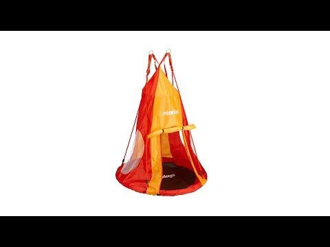 Zelt für Nestschaukel rot orange