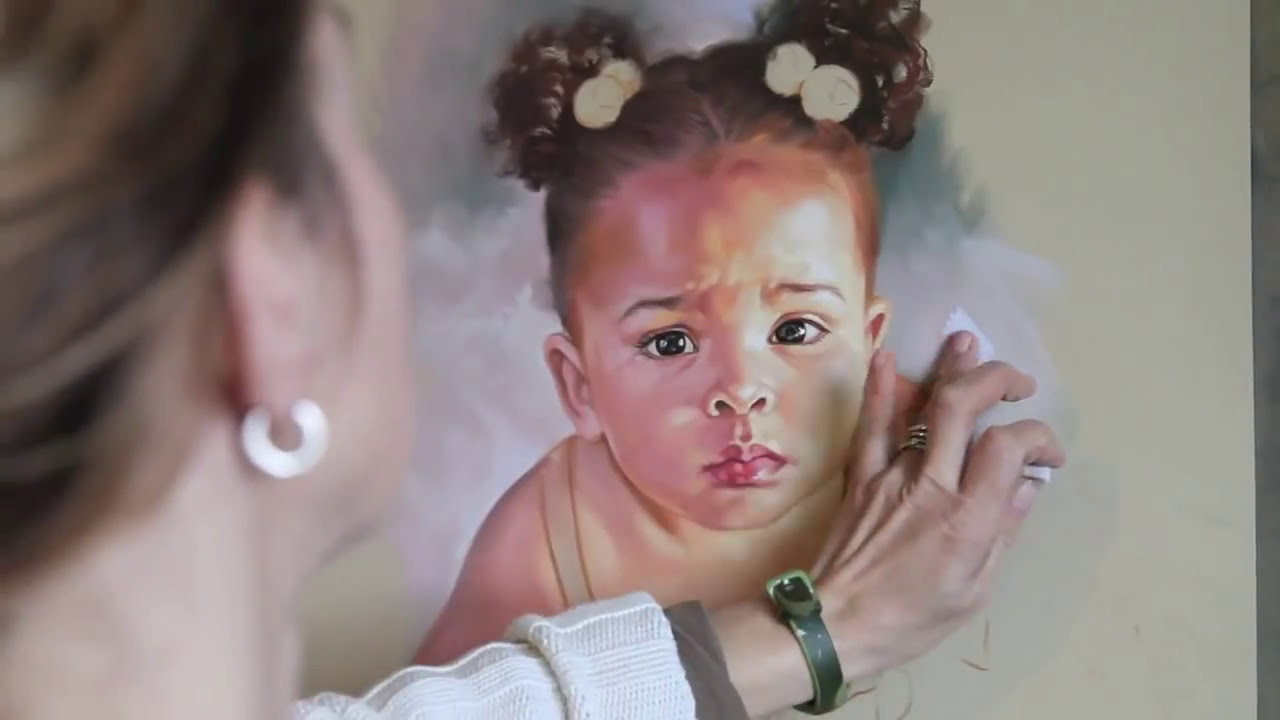 how to make a pastel portrait art of a kid by graciela bombalova