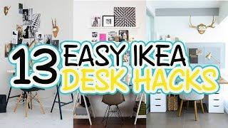 13 Easy IKEA Desk Hacks - Home Organizing Ideas