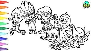 Coloring Pages Nickelodeon Pj Mask And Villans I Fun Videos For Kids