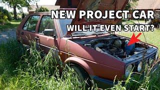 First Start in YEARS! - VW GOLF MK2