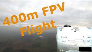 FPV flight to 400m (1300ft) altitude