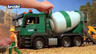 Bruder MAN TGS Μπετονιέρα Πράσινη www.toys-shop.gr