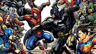 Drawing MARVEL VS DC in FULL COLOR!  The Box Office Brawl Finale!