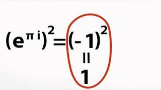 e to the pi i = -1 paradox