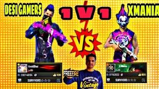 DESI GAMERS VS X-MANIA || 1 V1 CLASH SQUAD 😈😈 #Desi Gamers
